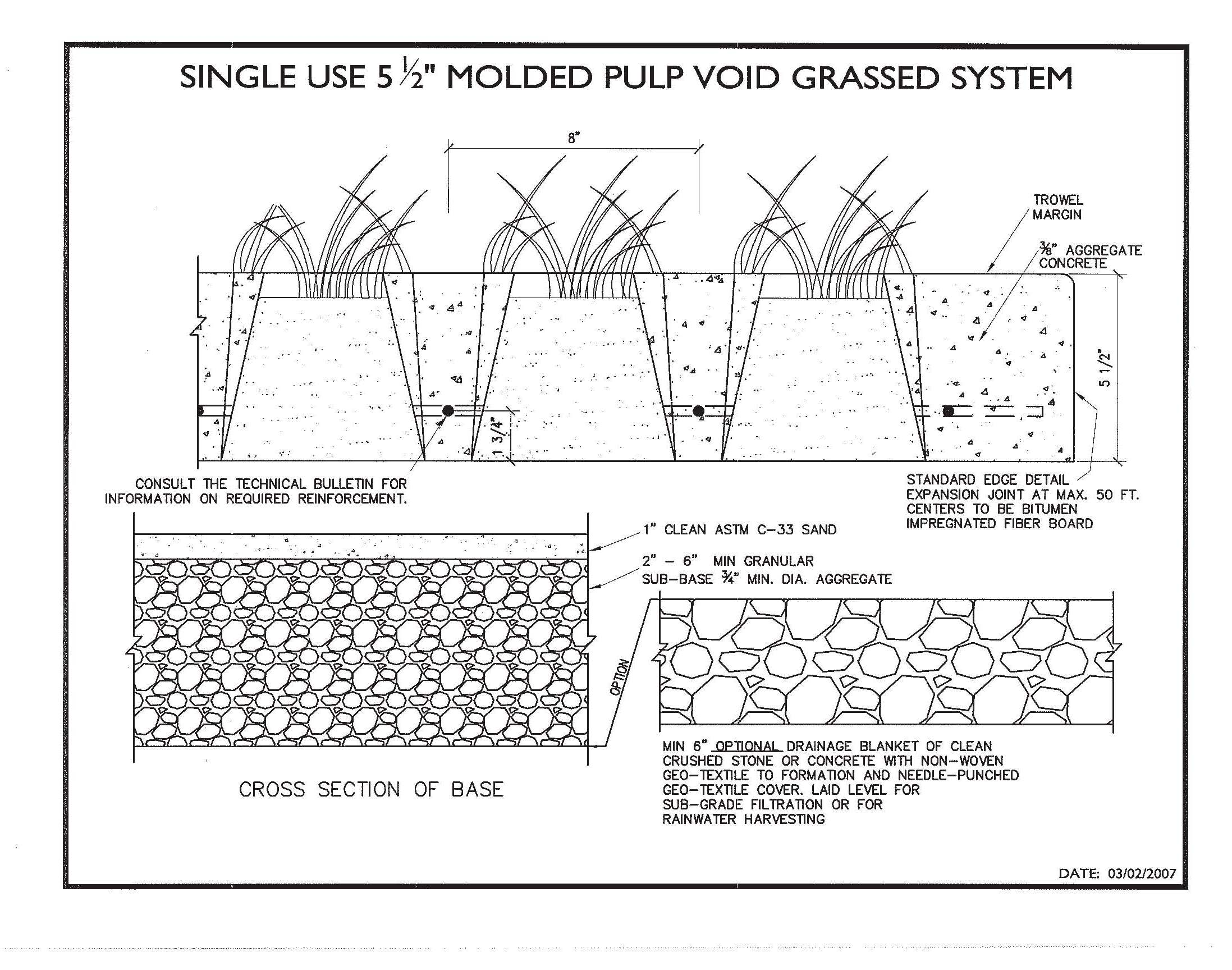 AutoCad Drawings | Sustainable Paving Systems Grasscrete