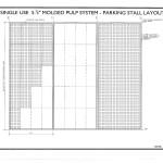 SPS Grasscrete Single Use System - Standard Parking Stall Layout