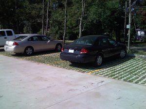 National Army Guard Grasscrete Parking Lot