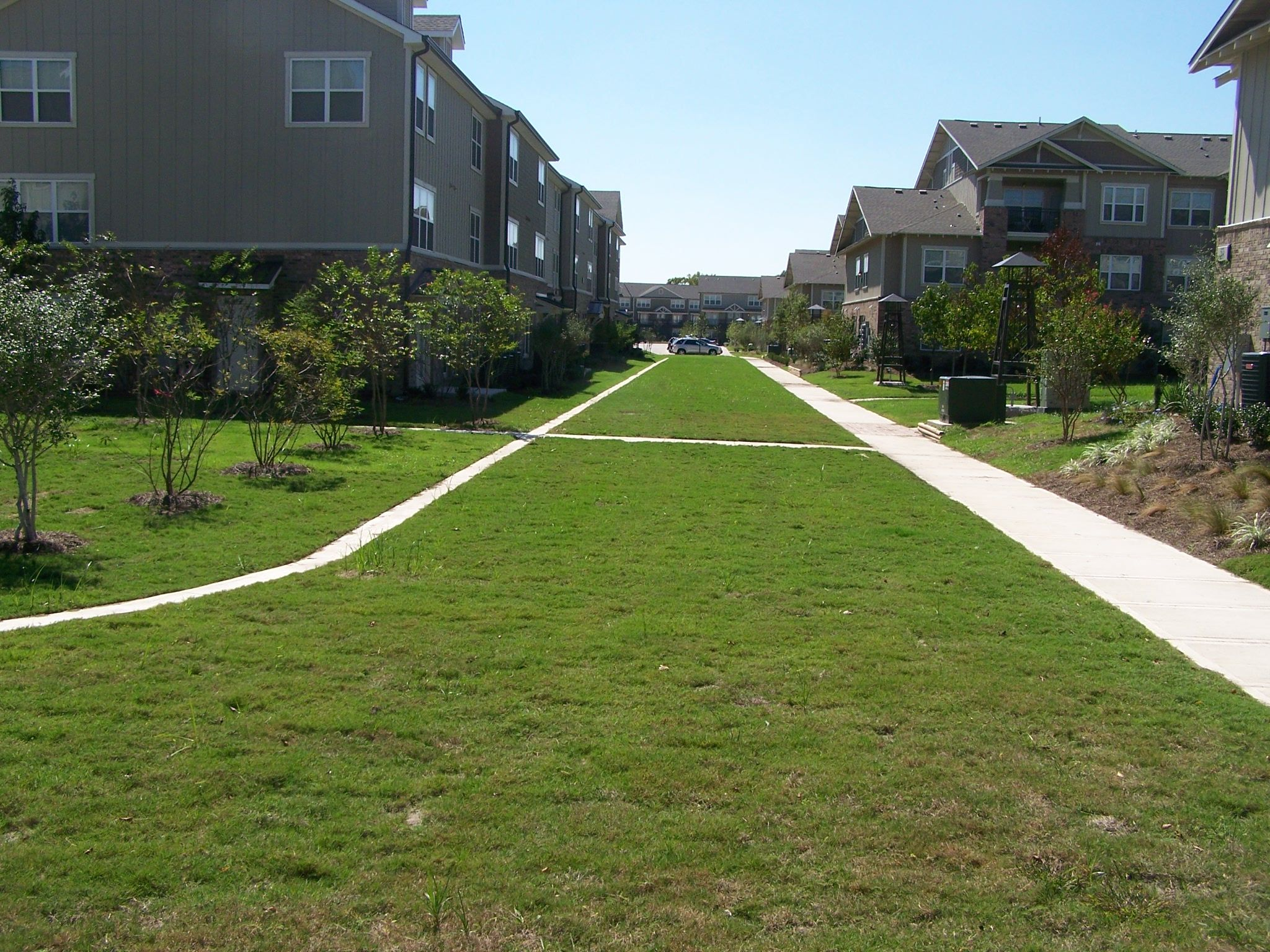 "Woodlands College Station Housing Development Project Receives ""Green"" Fire Lane"
