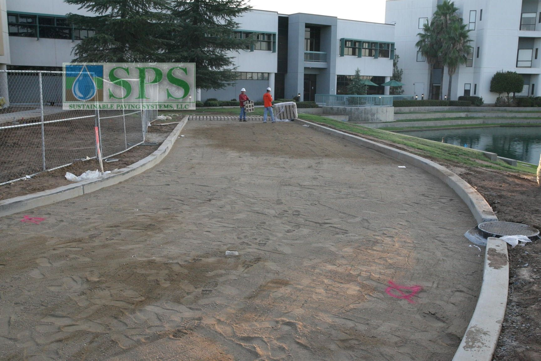 Molded Pulp Formers were used here for the installation of a concealed Grasscrete system that would be used as an emergency access road and were chosen specifically because they are made up of 100% recycled content and have the ability to degrade over time into the sub-soils.