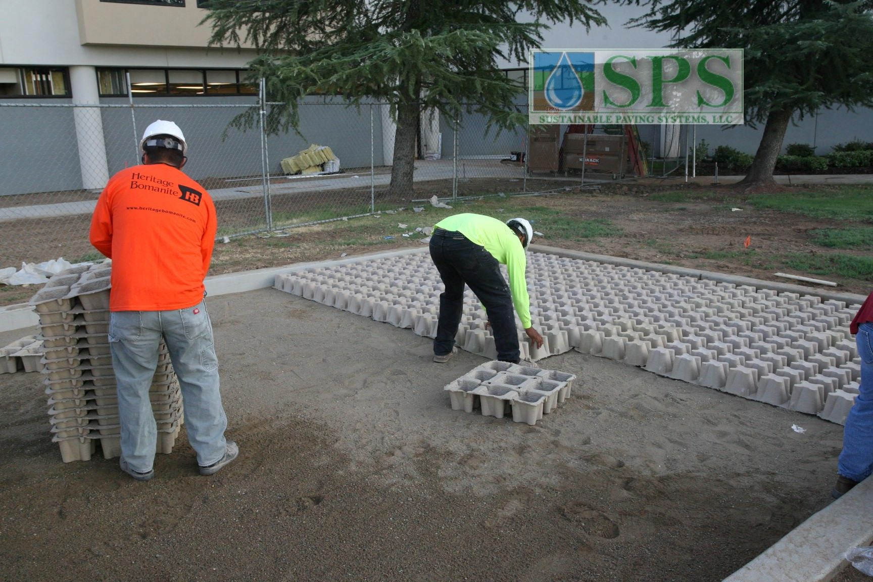 Grasscrete Molded Pulp Formers were utilized for this project to provide sustainability and because of the ease of use and installation with this specific product, the project was completed in only one day.