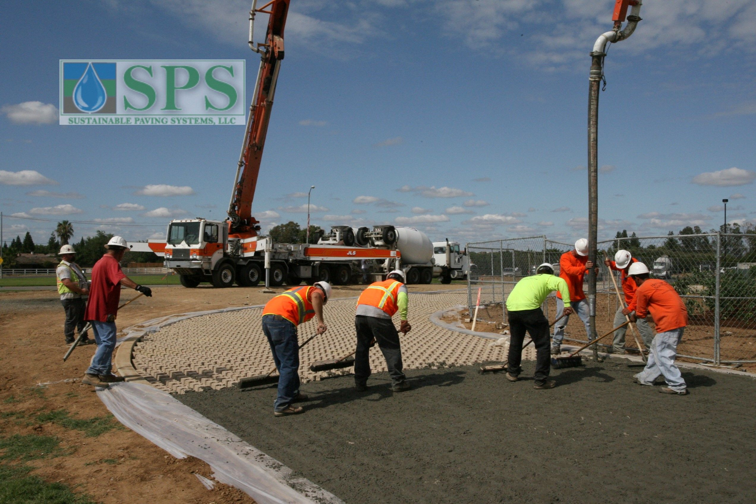 Grasscrete was installed here to provide an emergency vehicle access road that consists of a concrete base with voids created using Molded Pulp Formers that are filled with grass to conceal the underlying structure.