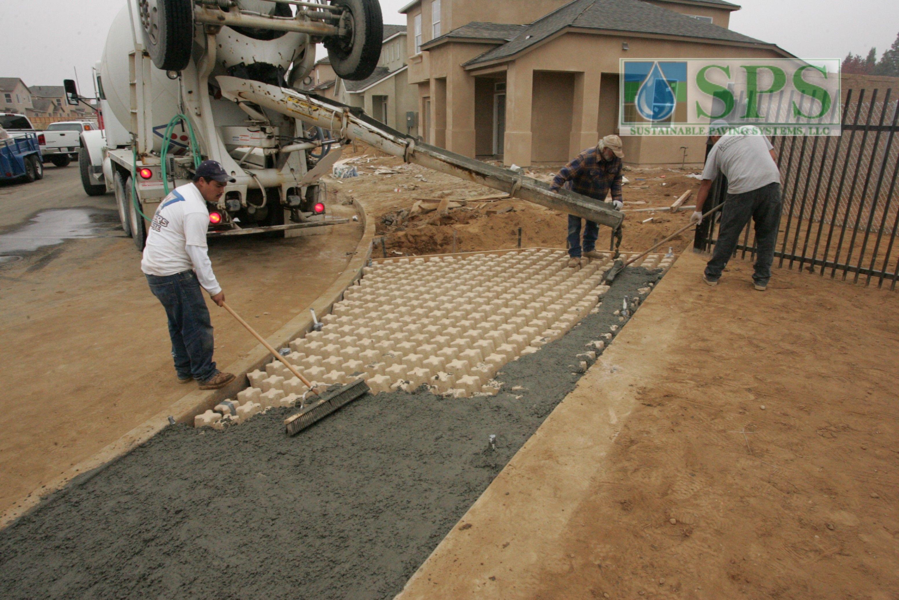 Grasscrete Concealed System At Wathen Castanos View Of Emergency Access Concrete Pour_5