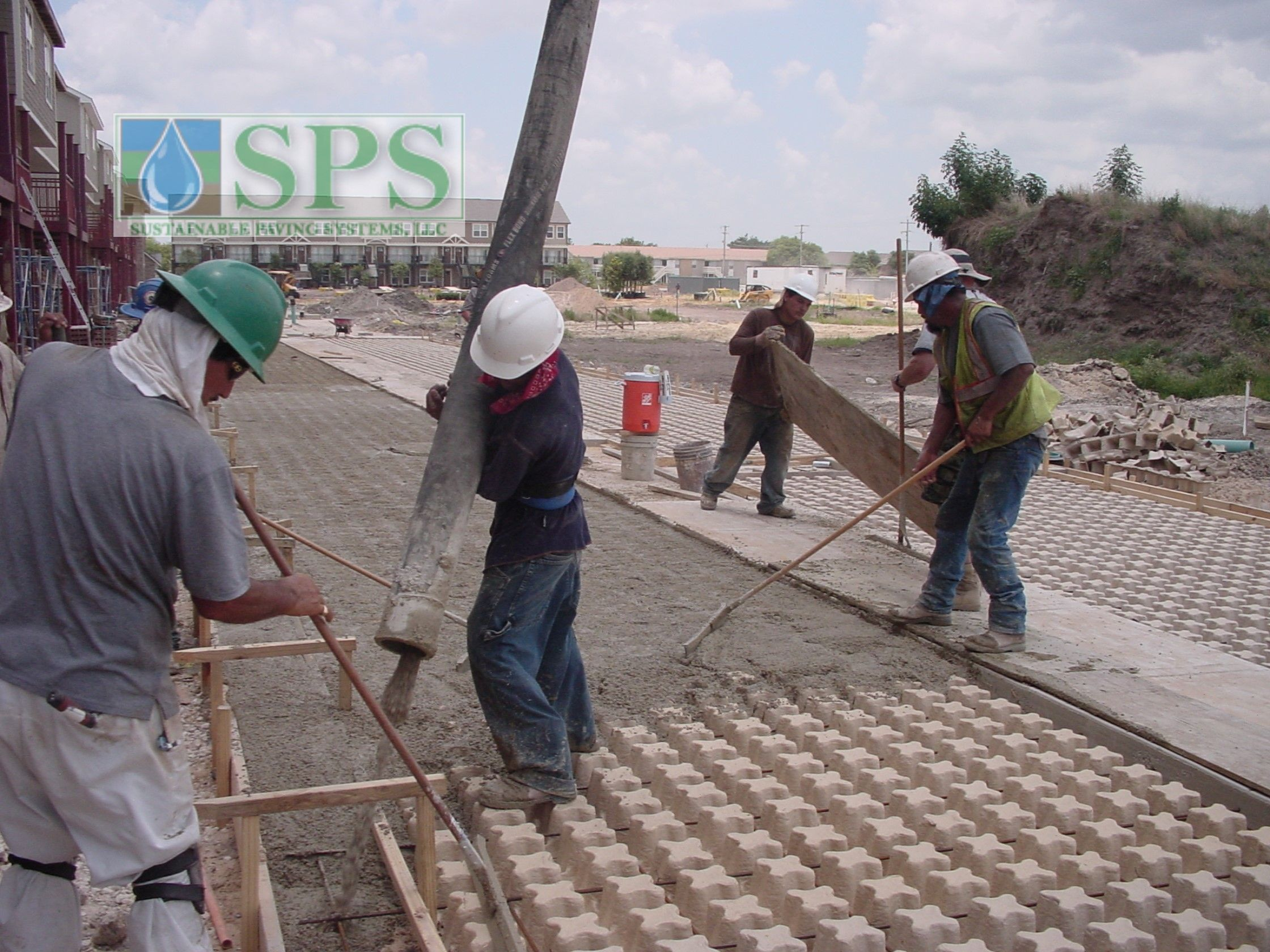 Grasscrete Concealed System At Woodlands At College Station View Of Firelane Concrete Pour_4