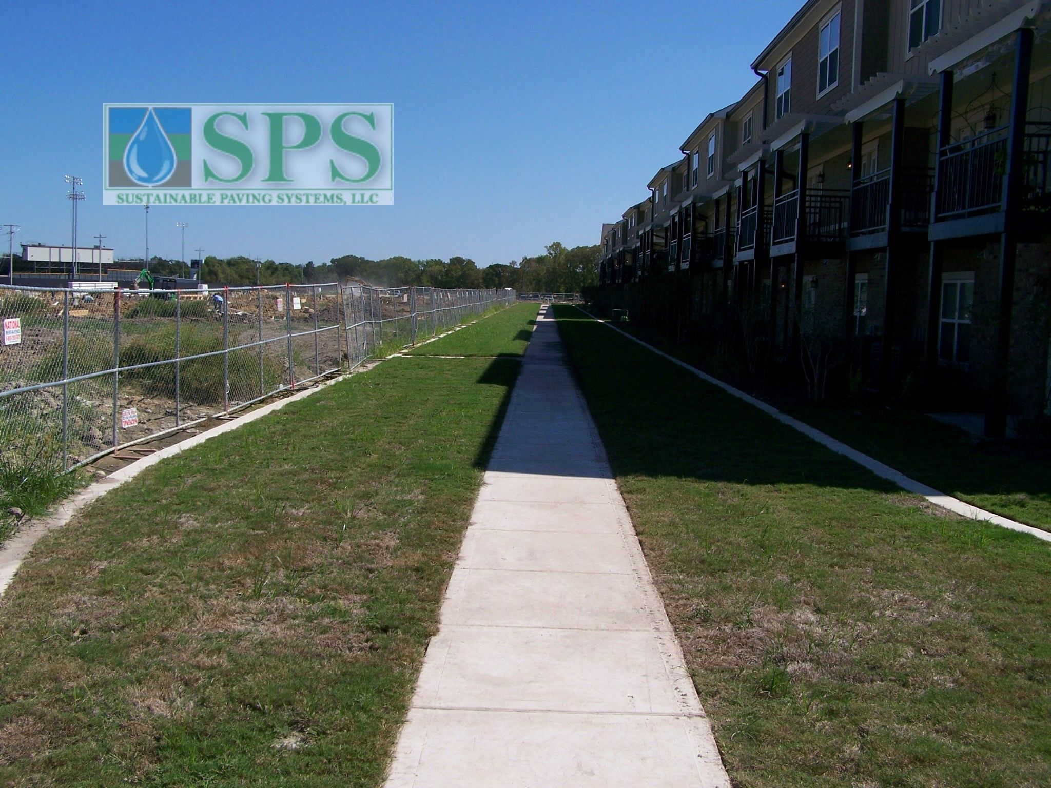 Grasscrete Concealed System At Woodlands At College Station View Of Firelane Early Growth_10