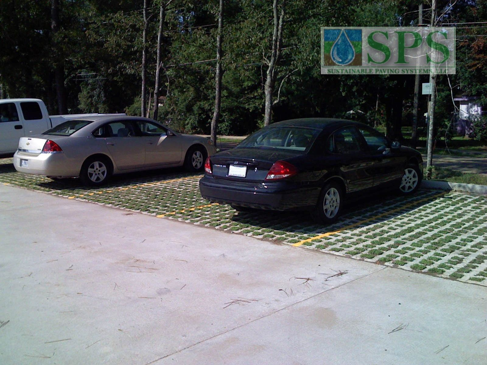 Grasscrete was installed here using molded pulp formers that provide sustainability with their 100% recycled content and ability to degrade over time into the sub-soils.