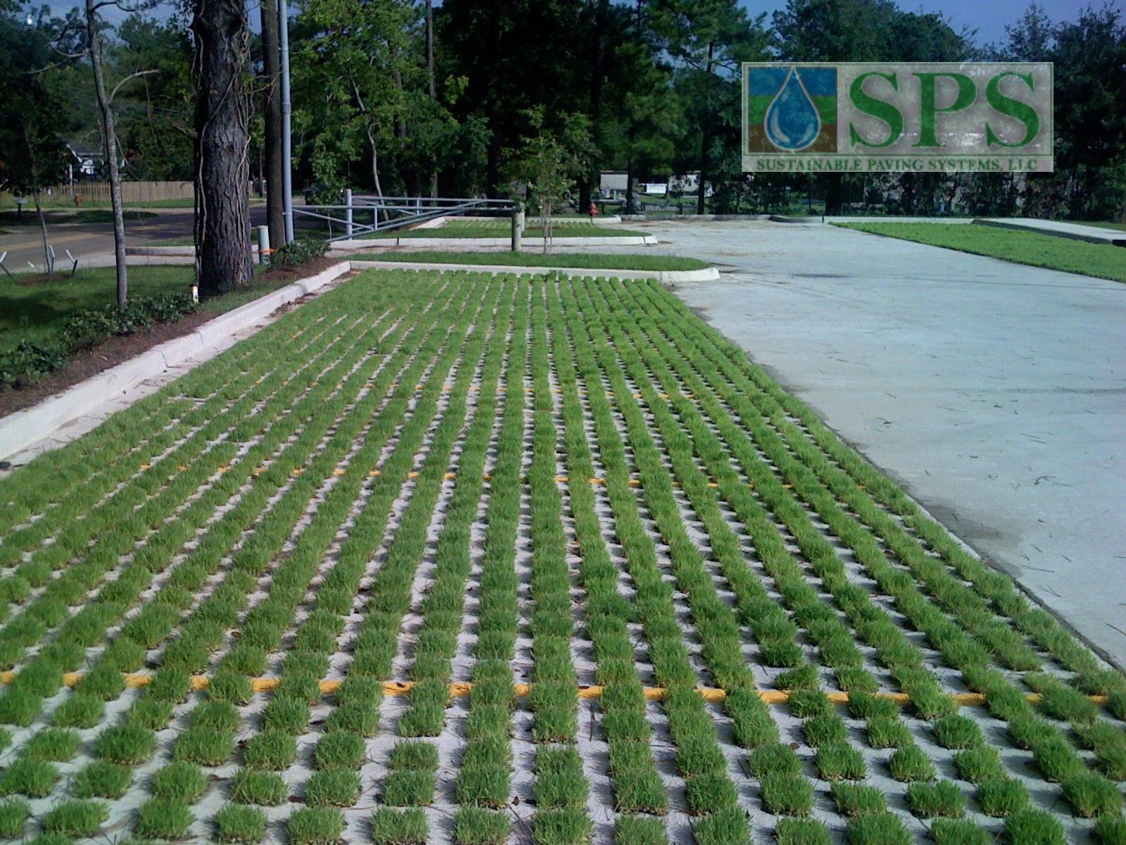 Featured here is Grasscrete, a pervious paving system that was installed using molded pump formers to provide sustainability while allowing for degradation over time into the sub-soils.