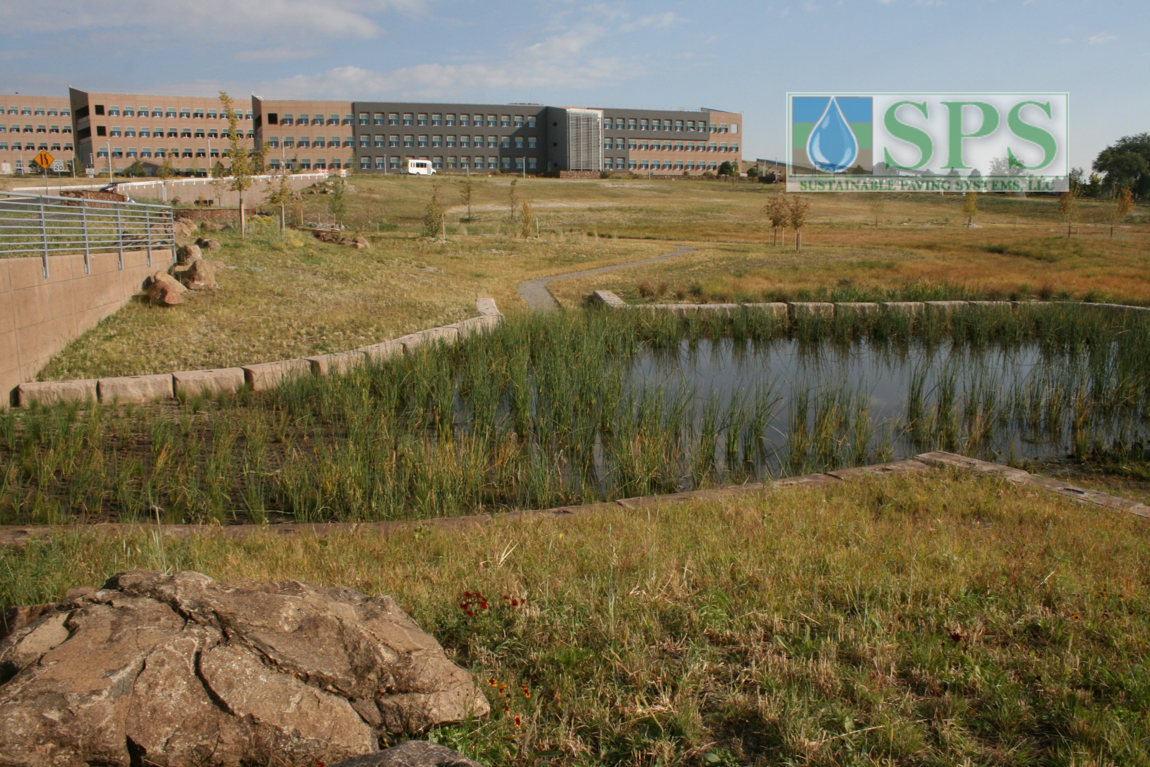 Grasscrete Partially Concealed System At Nrel Detention Pond_09