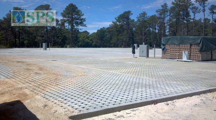 Grasscrete Stone Filled System At Fort Bragg Battle Command Training Center-3