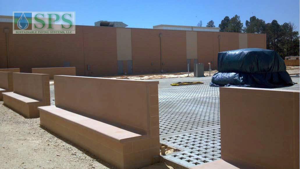 Grasscrete Stone Filled System At Fort Bragg Battle Command Training Center_5