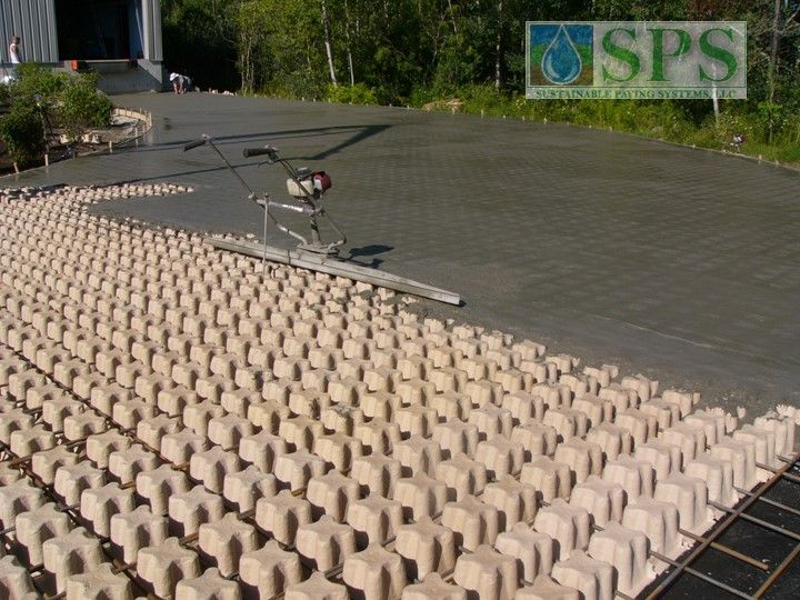 Grasscrete Stone Filled System At Micronics View Of Truck Dock Access Road Concrete Pour_3