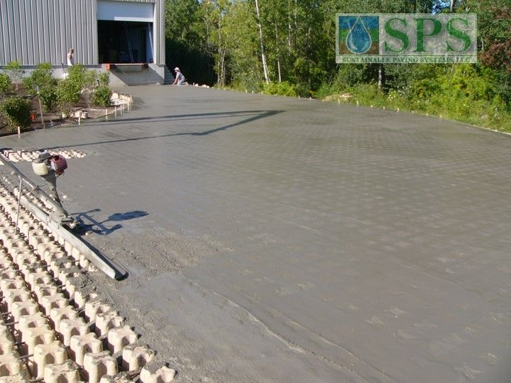 Grasscrete Stone Filled System At Micronics View Of Truck Dock Access Road Concrete Pour_4