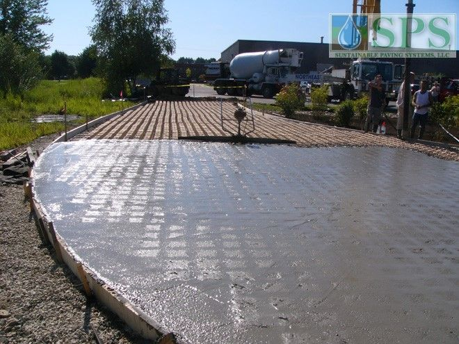 Grasscrete Stone Filled System At Micronics View Of Truck Dock Access Road Concrete Pour_6