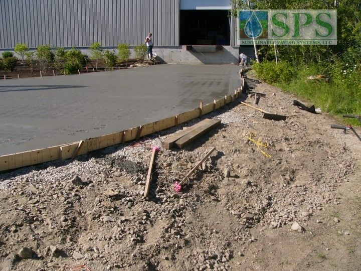Grasscrete Stone Filled System At Micronics View Of Truck Dock Access Road Concrete Pour_7
