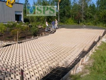 Grasscrete Stone Filled System At Micronics View Of Truck Dock Access Road Forms And Rebar Placed_1