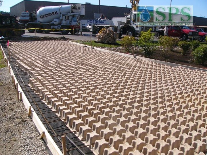 Grasscrete Stone Filled System At Micronics View Of Truck Dock Access Road Forms And Rebar Placed_5