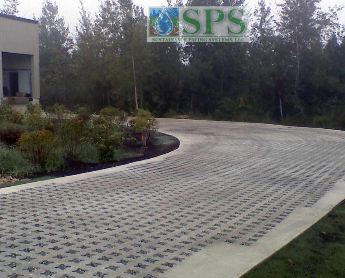 Grasscrete Stone Filled System At Micronis View Of Truck Dock Access Road_8