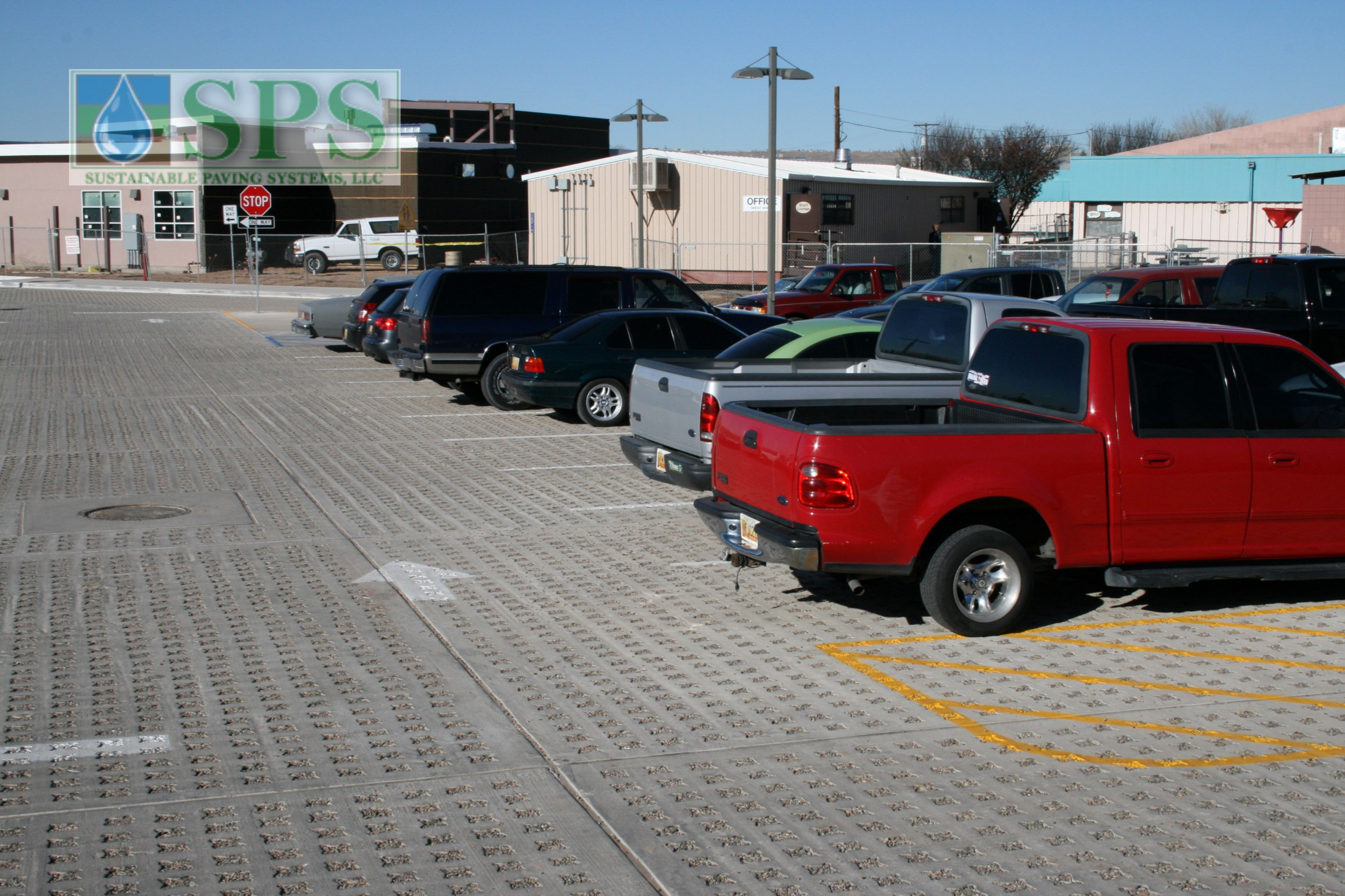 Grasscrete Stone Filled System At Navajo Elementary School View Of Parking Lot_03