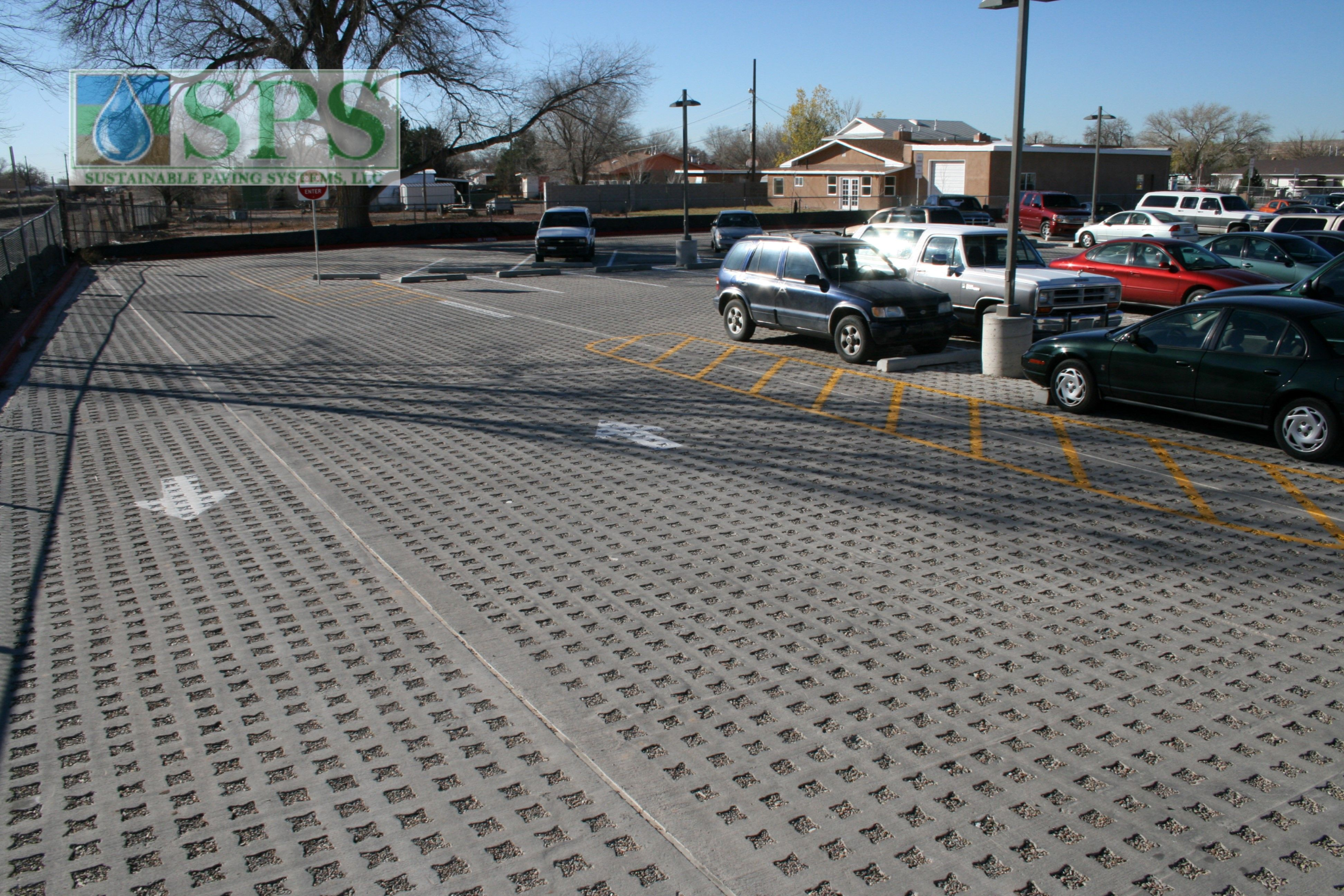 Grasscrete Stone Filled System At Navajo Elementary School View Of Parking Lot_04