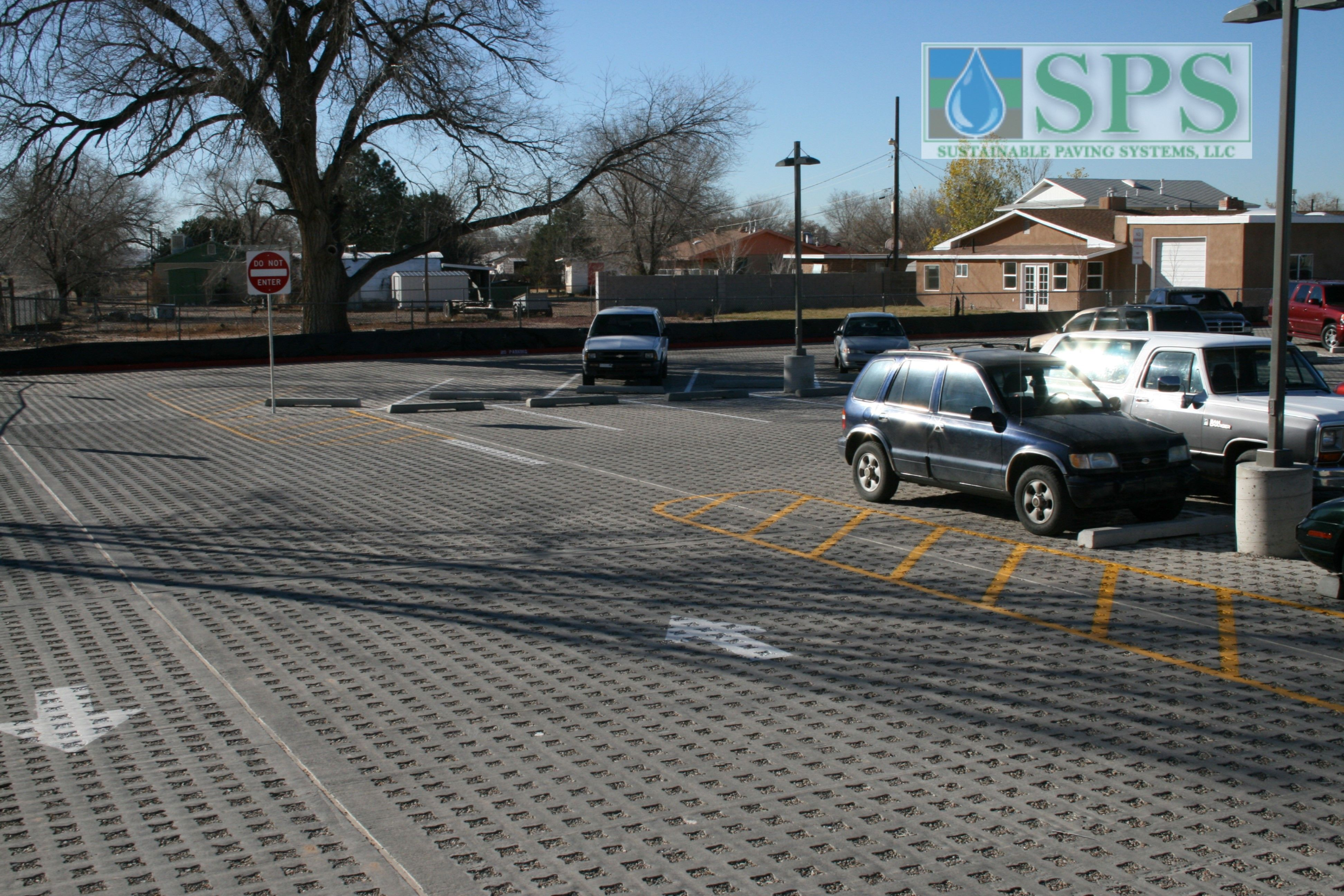 Grasscrete Stone Filled System At Navajo Elementary School View Of Parking Lot_07