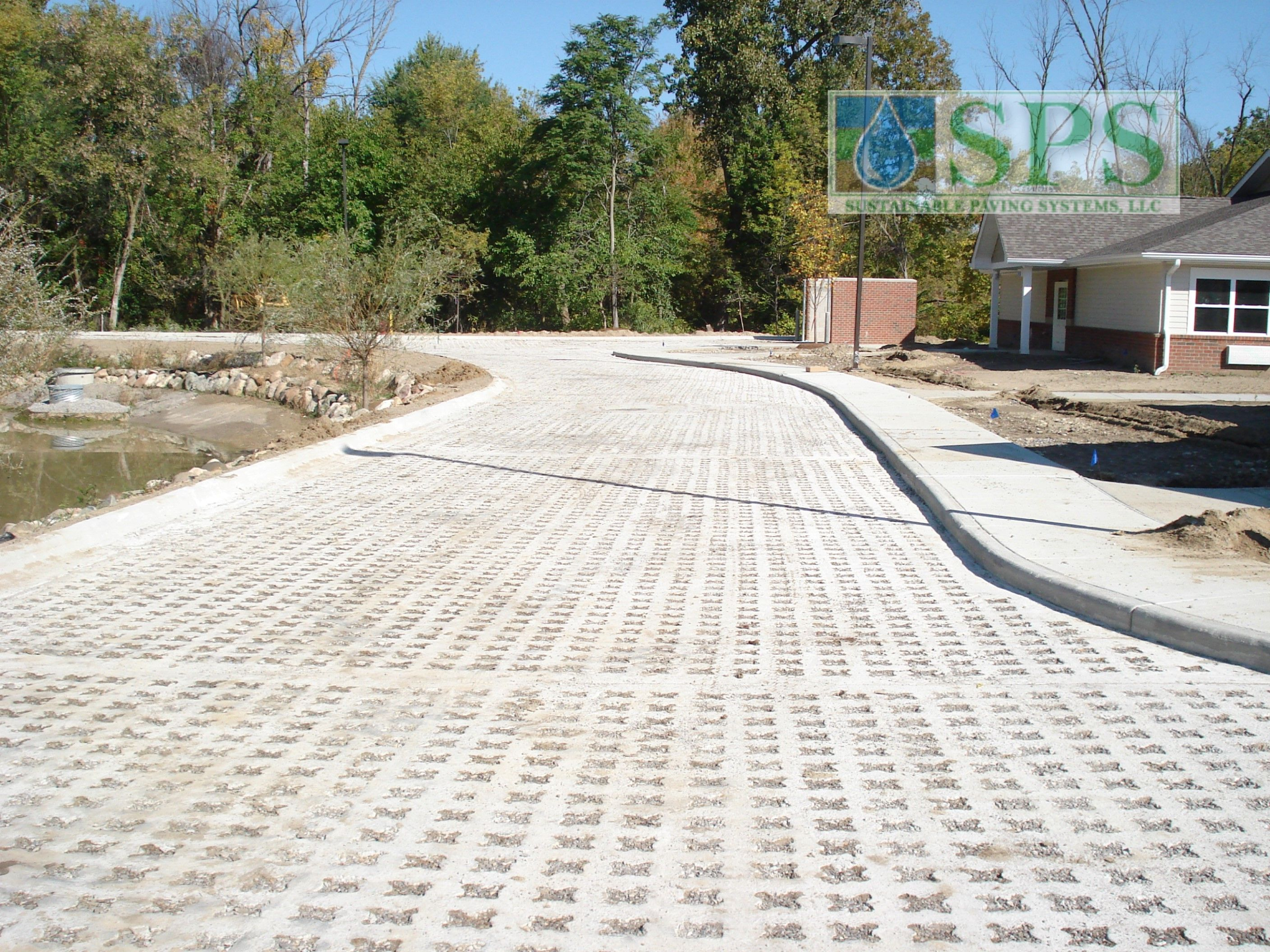 Grasscrete Stone Filled System At Regency Skilled Nursing Facility View Of Emergency Vehicle Access_06