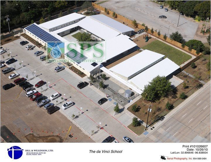The da Vinci Campus achieves Gold LEED status with the installation of Grasscrete Stone Filled Pervious Concrete System by Texas Bomanite.