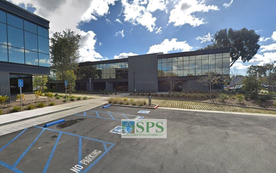Office Complex in Irvin, CA, has Grasscrete Partially Concealed Pervious Concrete Systems installed as emercency vehicle access lanes by Bomanite Licensee, TB Pennick & Sons.
