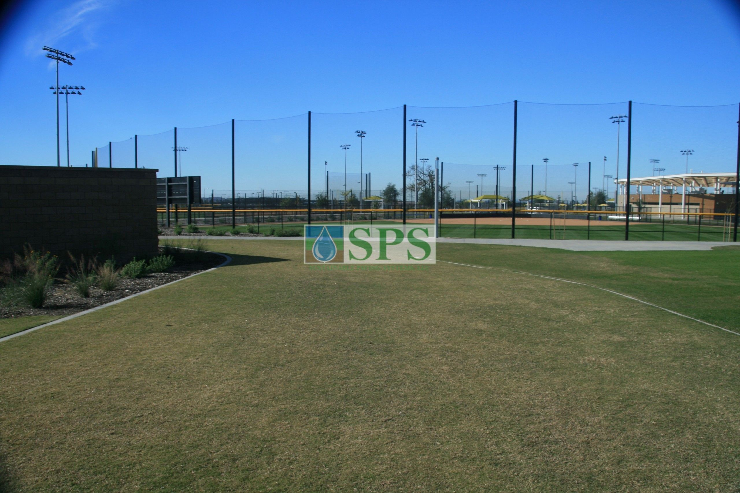 Roundabout shoulder created with Partially Concealed Grasscrete System at the Orange County Great Park in Irvine, CA.