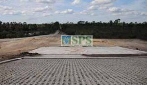A sloped Grasscrete Helicopter Training Landing Pad at Sikorsky Flight Center creates a green solution to ensure no soil erosion, low maintenance and proper absorption of water to avoid runoff.