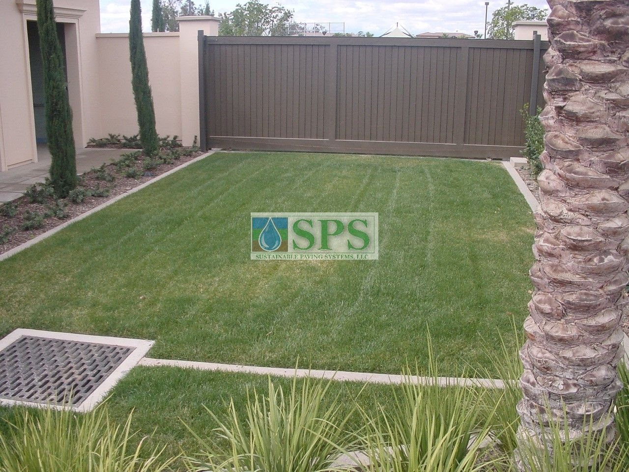 Fully Concealed Grasscrete Systems allow Water Management and Vehicle Access at Woodbury Community Development in Irvine, CA.